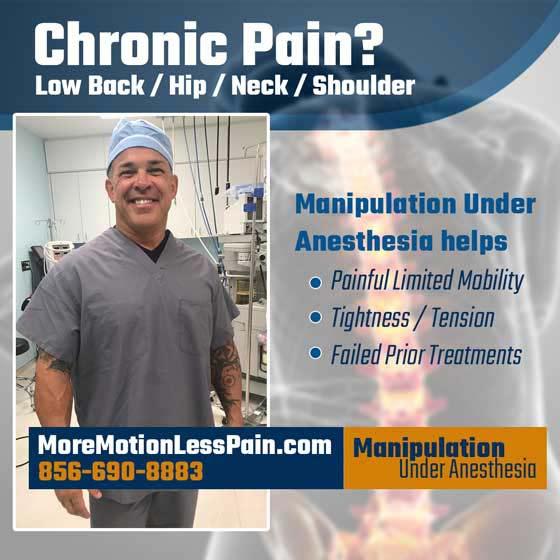 Chiropractic Vineland NJ Manipulation Under Anesthesia HP Photo